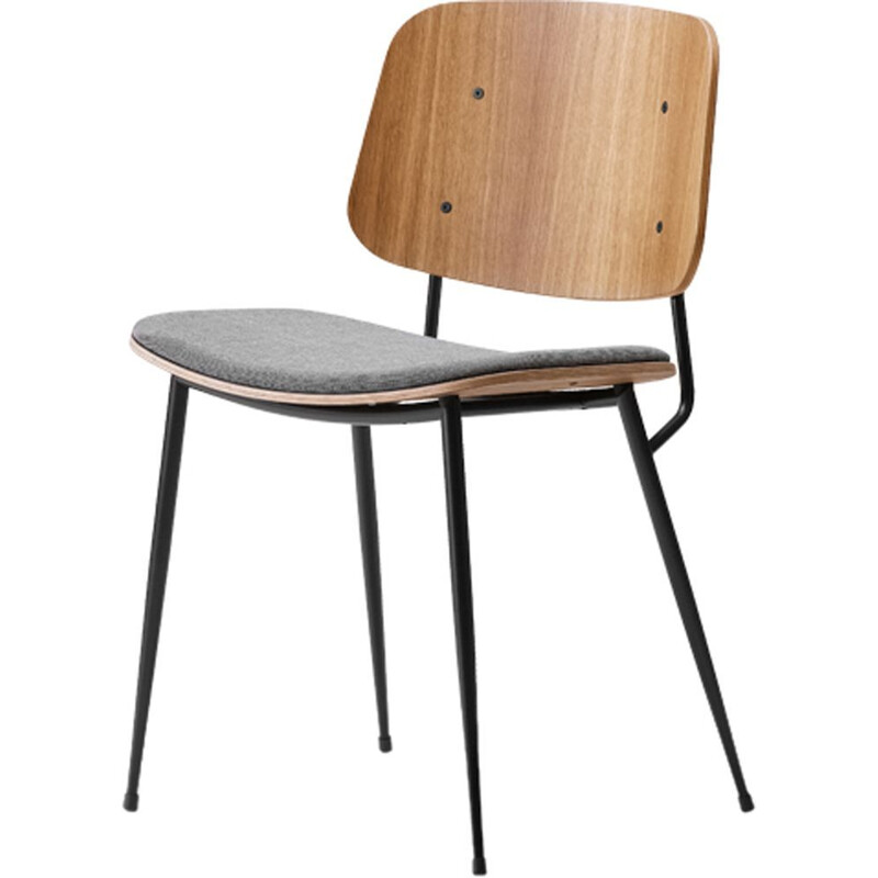 """Soborg steel base 3061"" chair, Borge Mogensen for FREDERICIA"