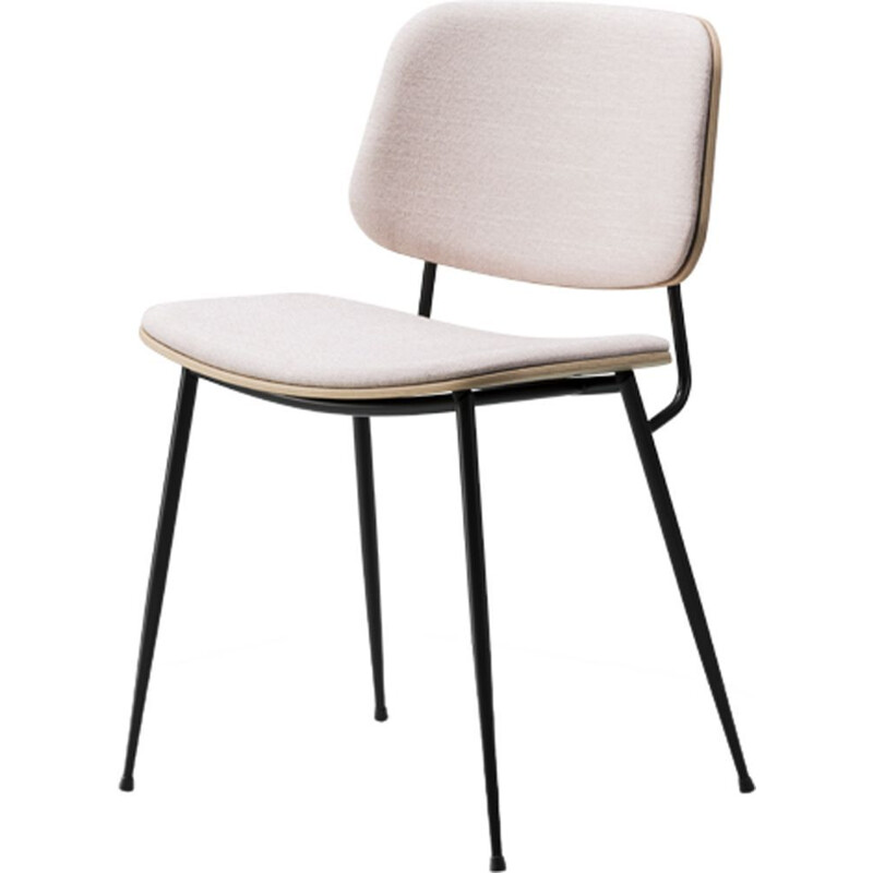 """Soborg steel base 3062"" chair, Borge Mogensen for FREDERICIA"