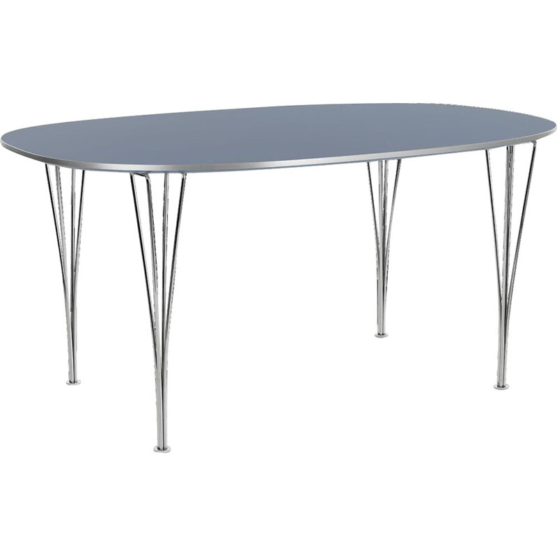 "Dining table ""Super-Elliptical"" 150cm by Piet Hein/Bruno Mathsson/Arne Jacobsen for FRITZ HANSEN"