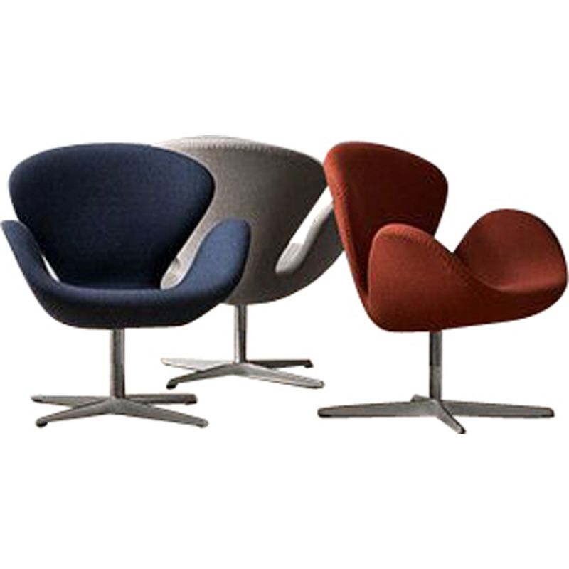"""Swan"" chair in fabric by Arne Jacobsen for FRITZ HANSEN"