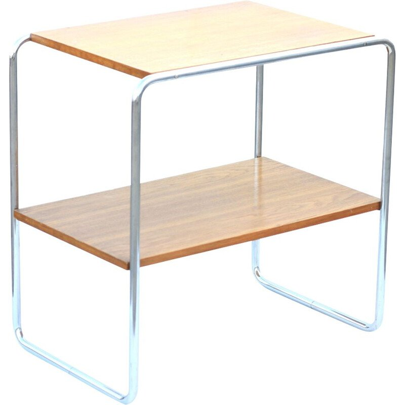 Vintage side table by Kovona in wood and steel 1960