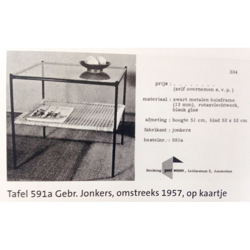 Side Table Van Glas.Vintage Dutch Coffee Table By Dirk Van Sliedregt For Rohe 1950
