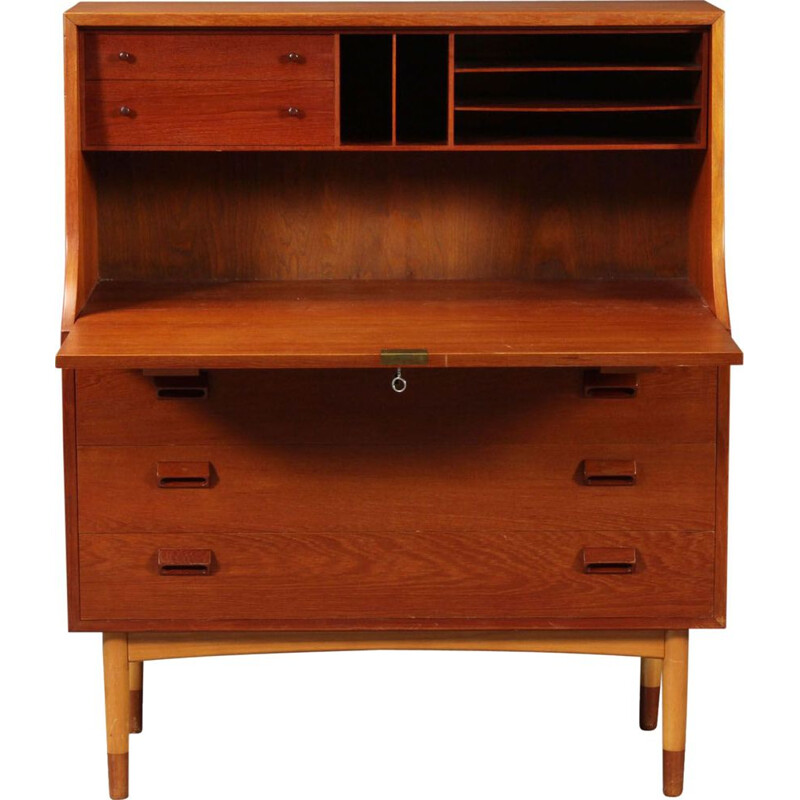 Vintage Danish secretary in teak by Børge Mogensen for Søborg Møbelfabrik,1960