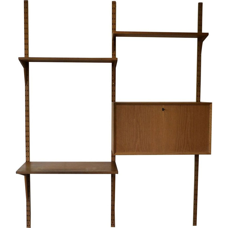 Vintage modular wall-unit in oak by Poul Cadovius for Cado,1960