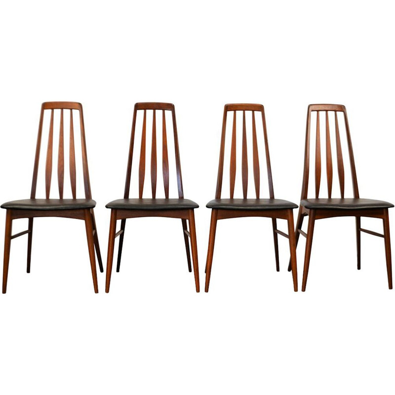 Set of 4 vintage dining chairsin teak by Niels Koefoed for Koefoed Hornslet,1960