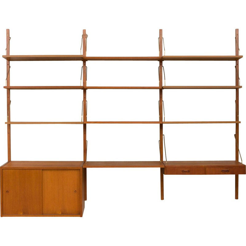 Vintage wall unit with a desk system by Poul Cadovius,1960