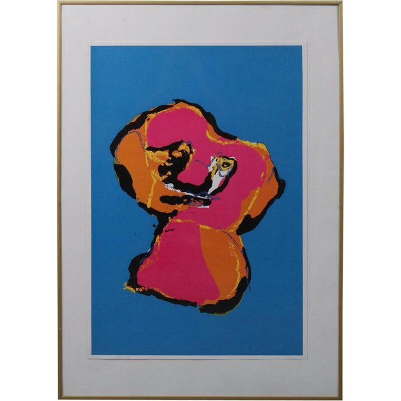 Vintage Silk Screen by Karel Appel 'Animal' 1970