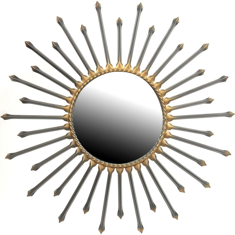 Vintage Sun Mirror Chaty black 1950 - 60s