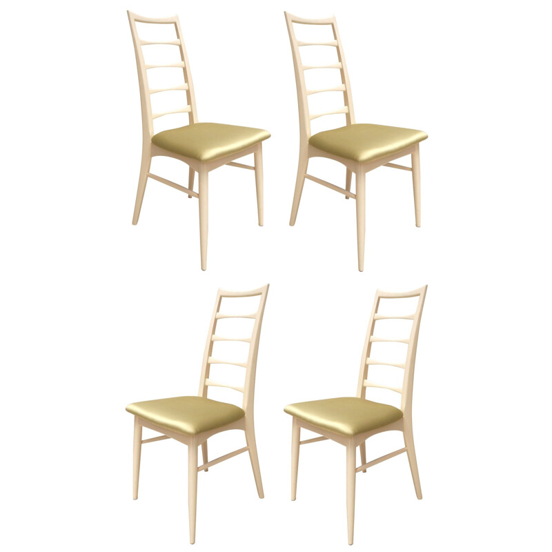 4 dining chairs, Niels KOEFOEDS - 1950s