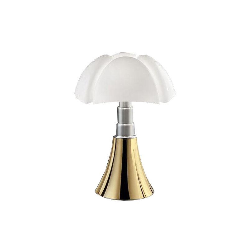 """Pipistrello"" golden plated 24k lamp, Gae Aulenti for MARTINELLI LUCE"