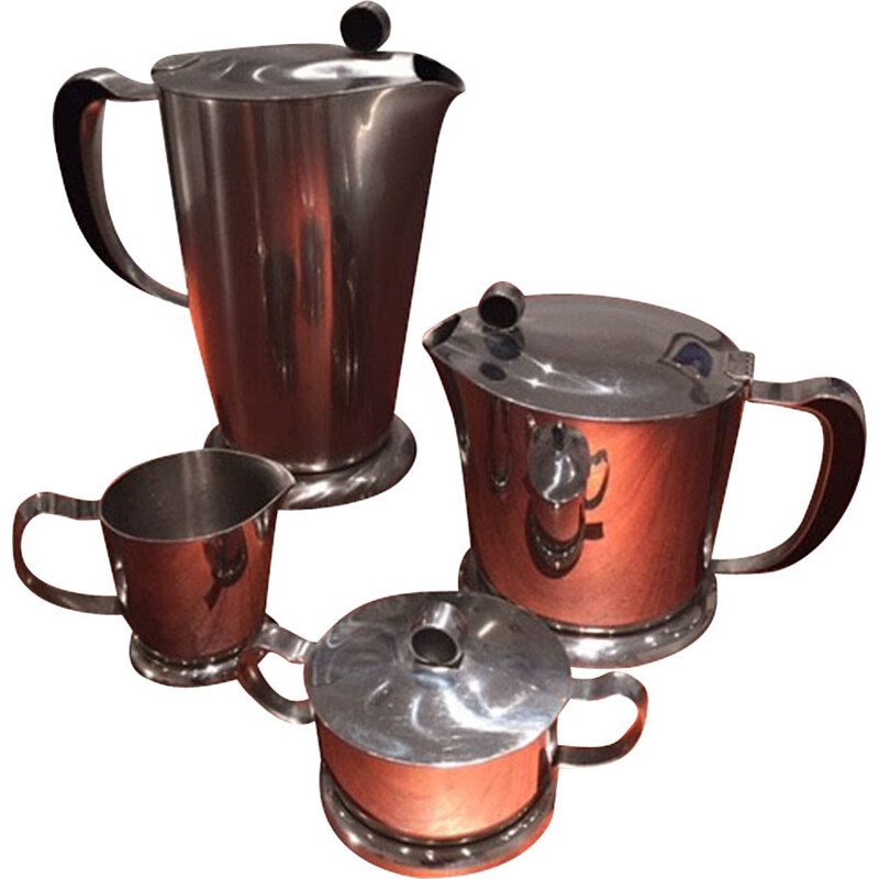 Gense set tea and coffee in stainless and bakelite - 1950s