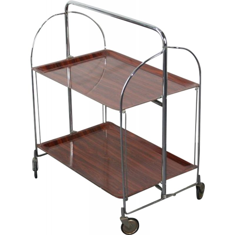 Vintage folding trolley in steel