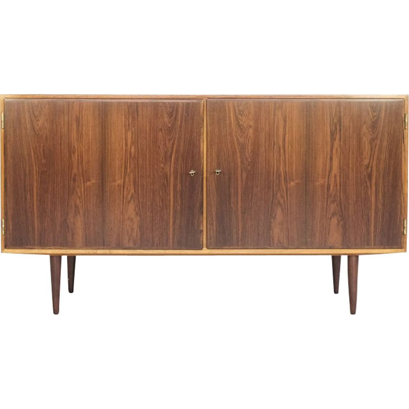 Vintage sideboard with 2 doors in rosewood by Hundevad 1960s