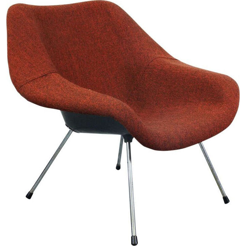 Vintage red armchair by Jupp Ernst 1950