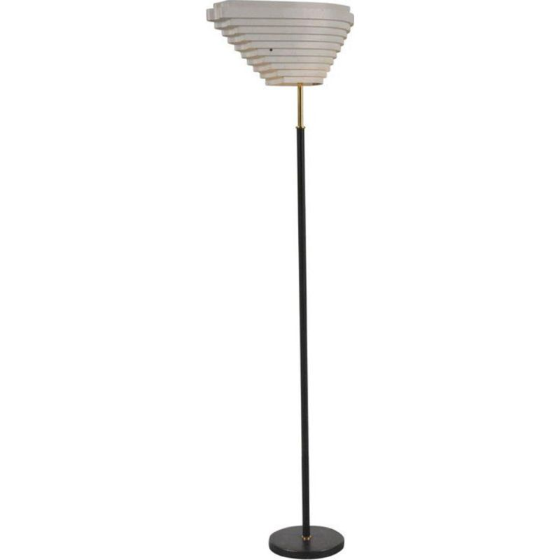Vintage Floor Lamp by Alvar Aalto for Valaistustyö 1956 Finland