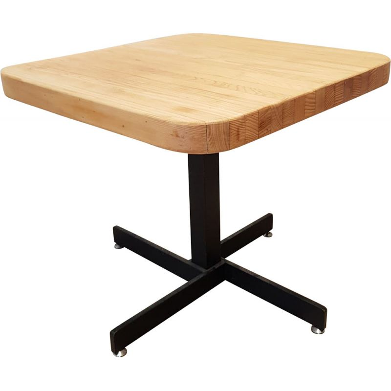Vintage table Les Arcs in solid pine by Charlotte Perriand, France 1960