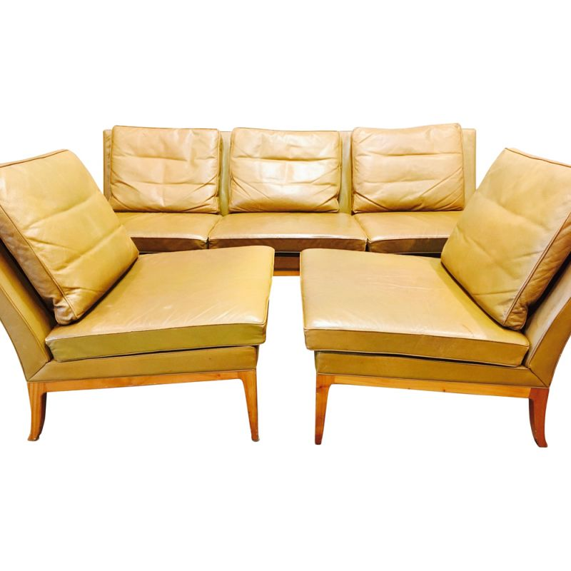 Vintage living room set sofa and two armchairs Kill International 1960
