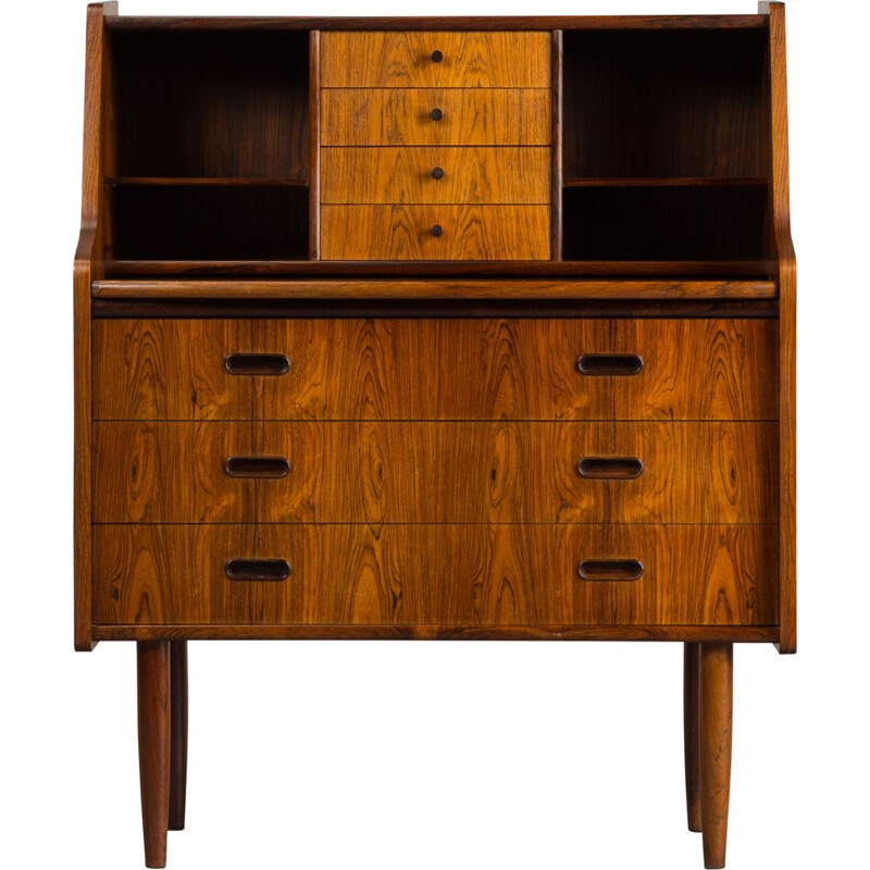 Vintage Danish secretary in rosewood