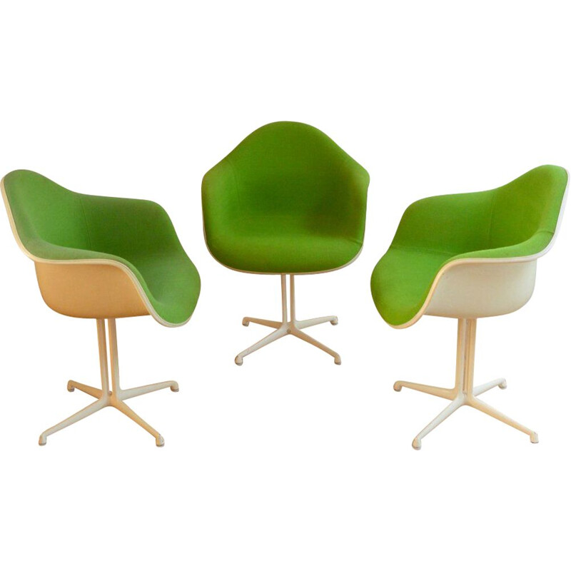 "Set of 3 ""La Fonda"" armchairs by Eames for Herman Miller"