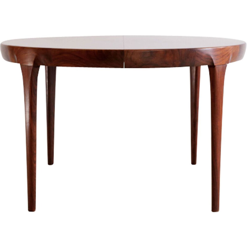 Rosewood round table by Ib Kofod-Larsen