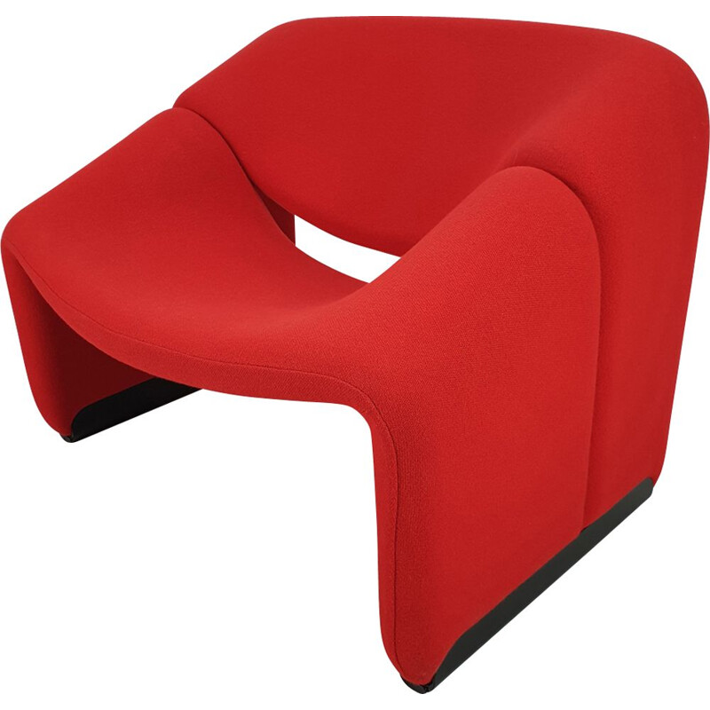 F598 Groovy red lounge chair by Pierre Paulin for Artifort