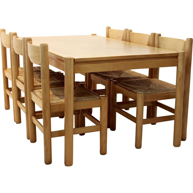 Vintage dining set table and chairs Italy 1960s