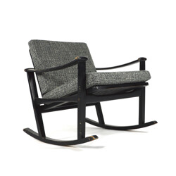 PASTOE wooden and fabric rocking chair, Finn JUHL - 1950s