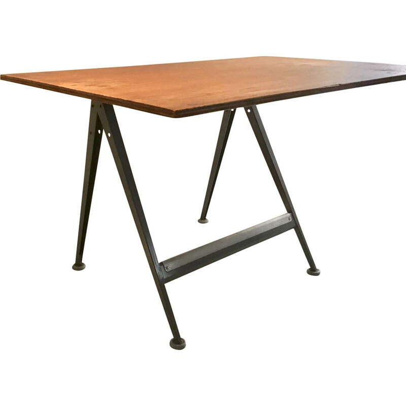 Vintage Drawing Table by Friso Kramer & Wim Rietveld for Ahrend De Cirkel, 1950s