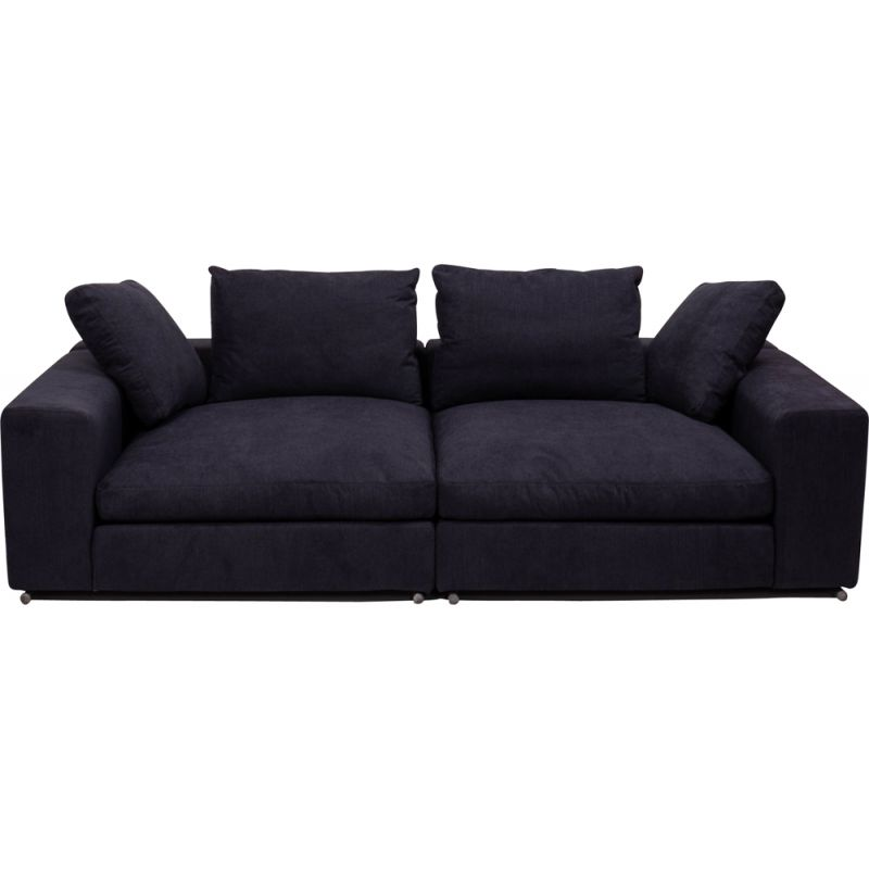 Vintage 2-seater sofa in slate grey fabric by Flexform,1990