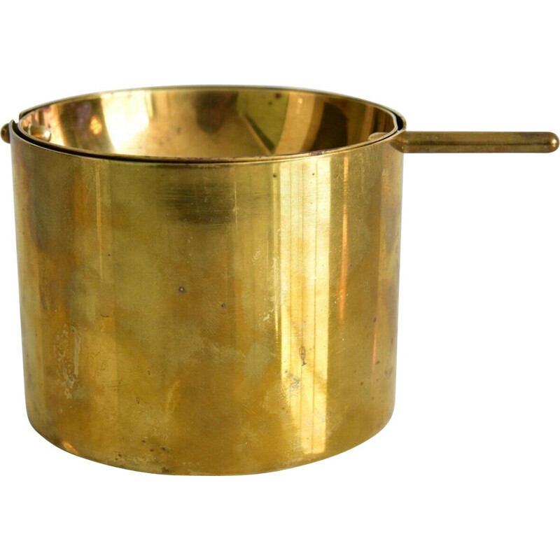 Large brass ashtray by Arne Jacobsen for Stelton, Denmark, 1950