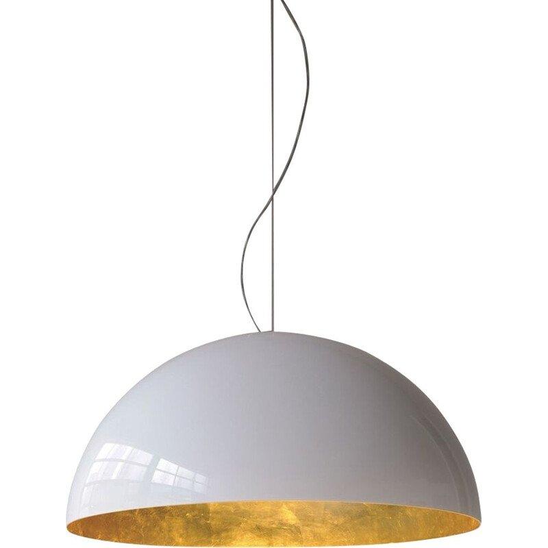 """Sonora 490 OR"" pendant lamp by Vico Magistretti for OLUCE"