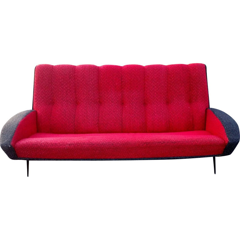 Vintage 3-seater sofa by Guy Besnard edition Besnard & Cie edition,1960