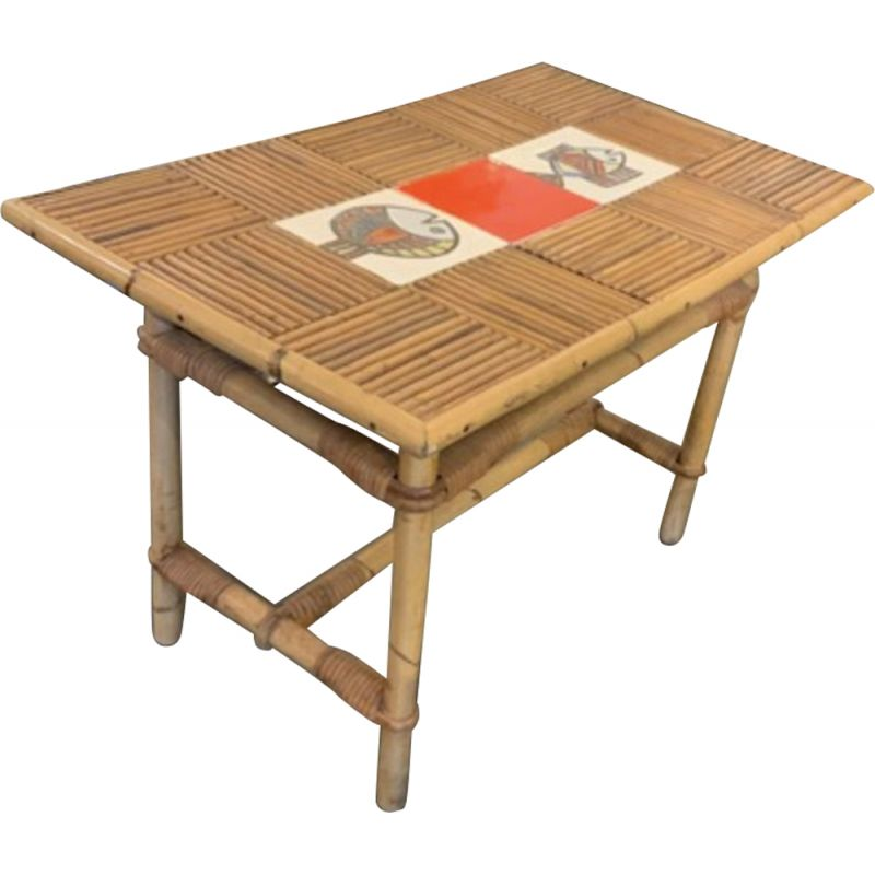 Vintage coffee table by Roger Capron,Frace,1960