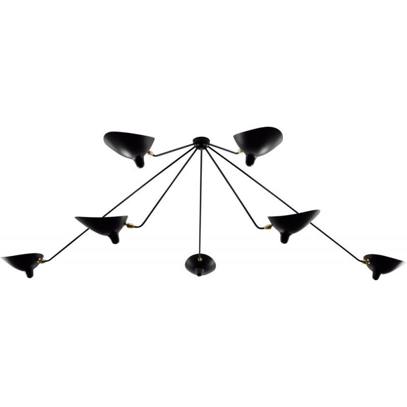 """Hanging lamp """"Araignée"""" with 7 fixed arms by SERGE MOUILLE"""