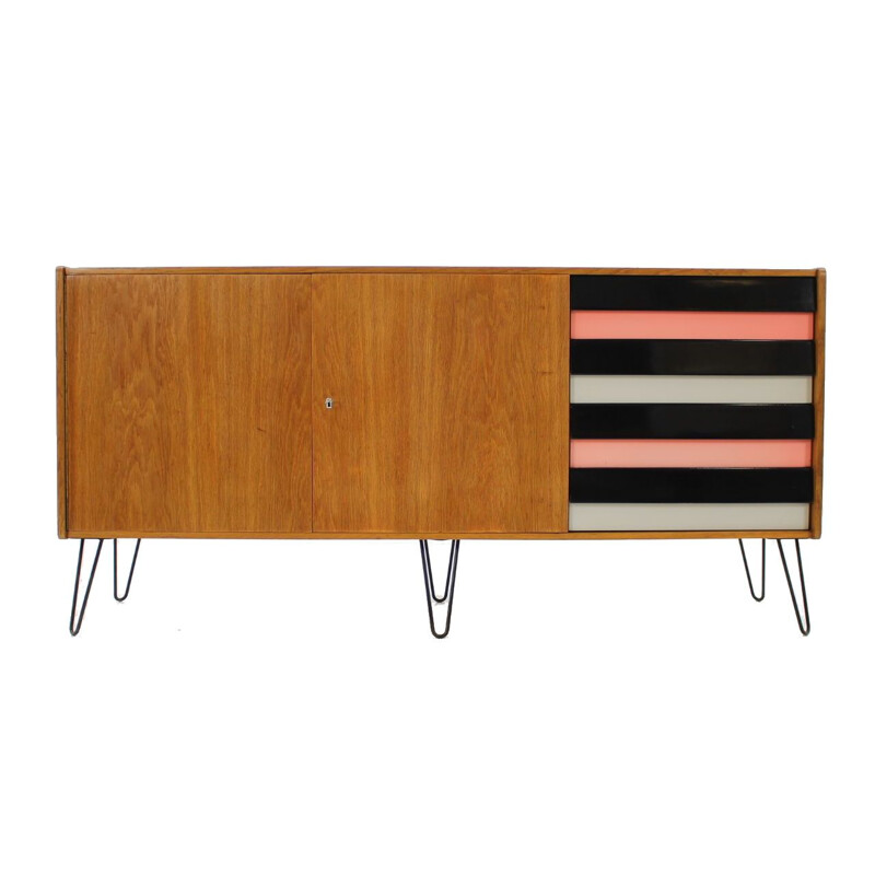 Vintage chest of drawers in oak by Jiří Jiroutek, 1960s
