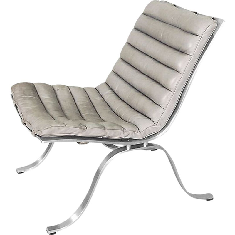 Vintage easy chair Ariet in leather by Arne Norell for Norell Möbel AB, 1966