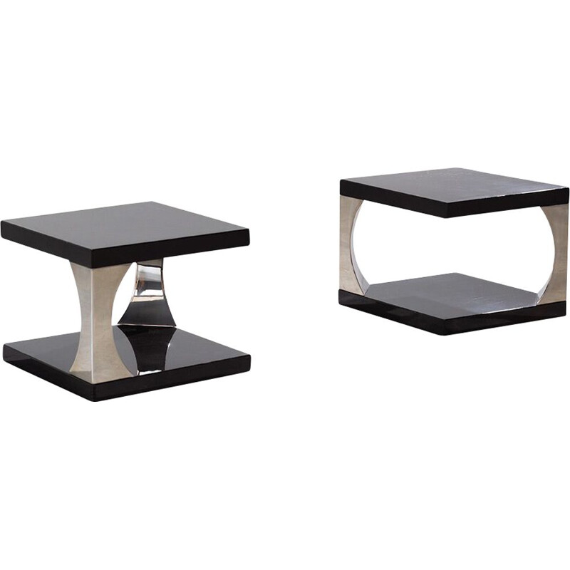 Pair of vintage side table Azucena 1970s