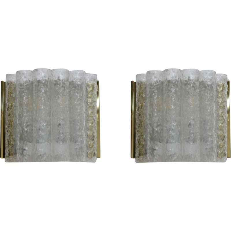 Pair of vintage wall lamps Doria, 1960s
