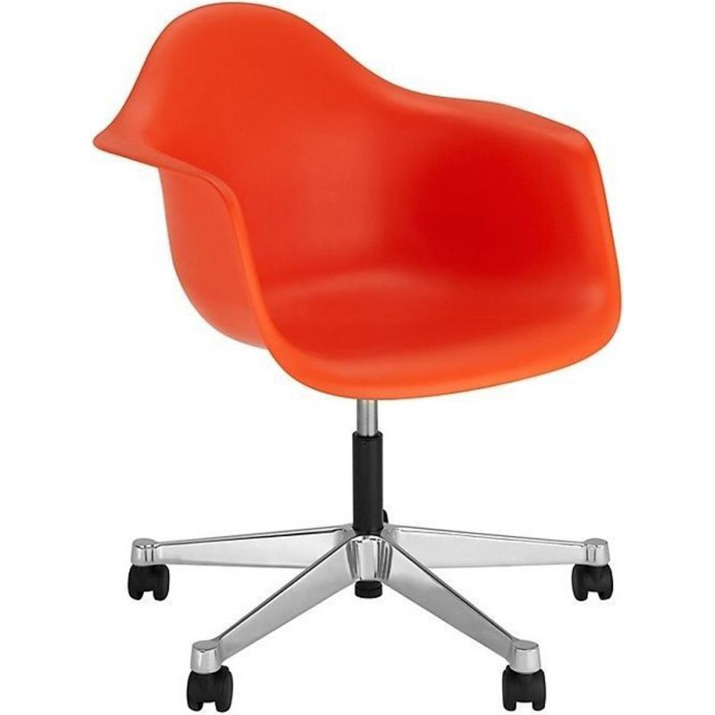 """Plastic Armchair PACC"" desk chair by Charles and Ray Eames for VITRA"