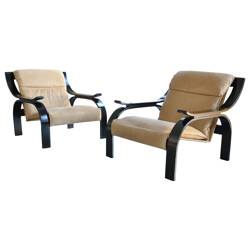 Pair of vintage armchairs, Marco ZANUSO - 1960s
