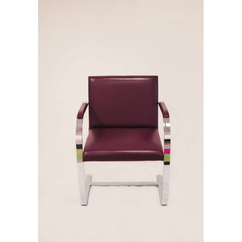 Vintage Brno Armchair By Mies Van Der Rohe For Knoll In Burgundy