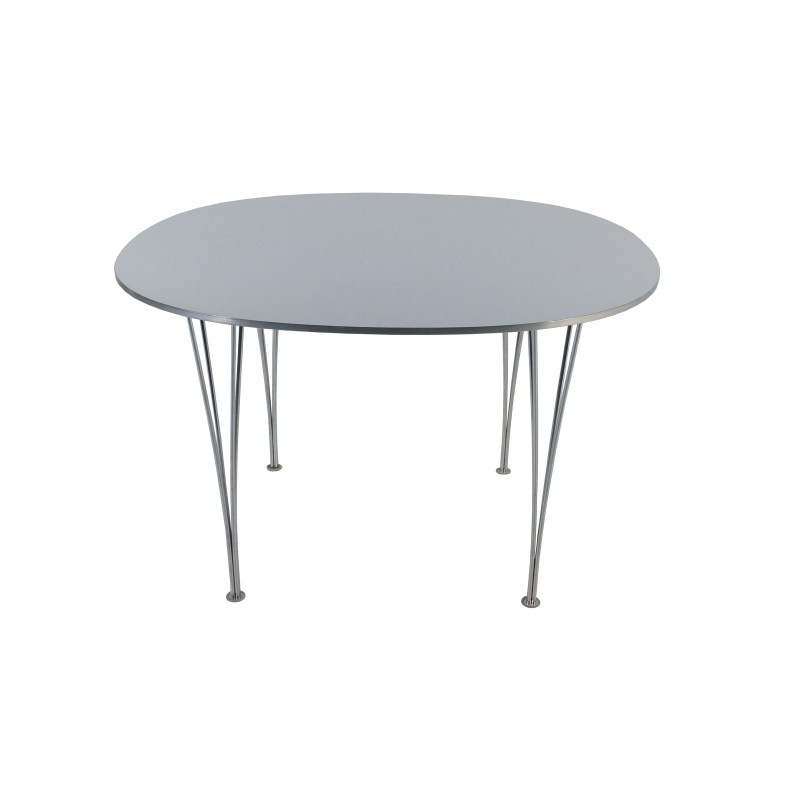 Fritz Hansen Super Elliptical Table In Metal Piet Hein Arne