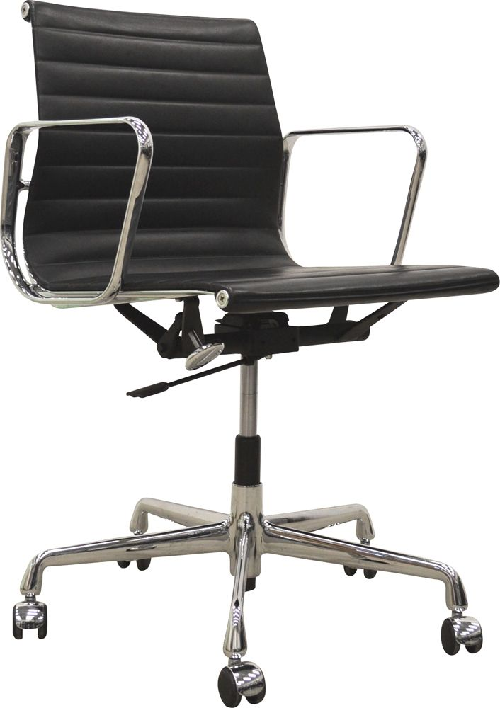 Fine Vintage Ea117 Office Chair By Eames For Vitra In Black Leather And Aluminium Design Market Ncnpc Chair Design For Home Ncnpcorg