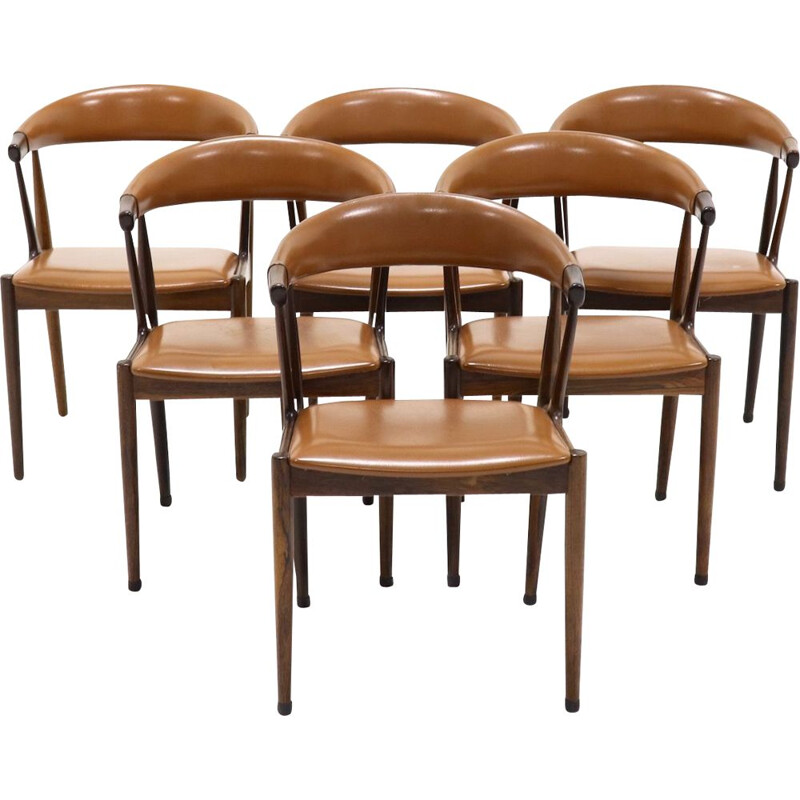 Set of 6 vintage BA113 rosewood chairs by Johannes Andersen