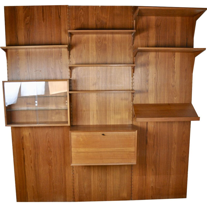 Vintage wall unit Royal system by Poul Cadovuis 1960