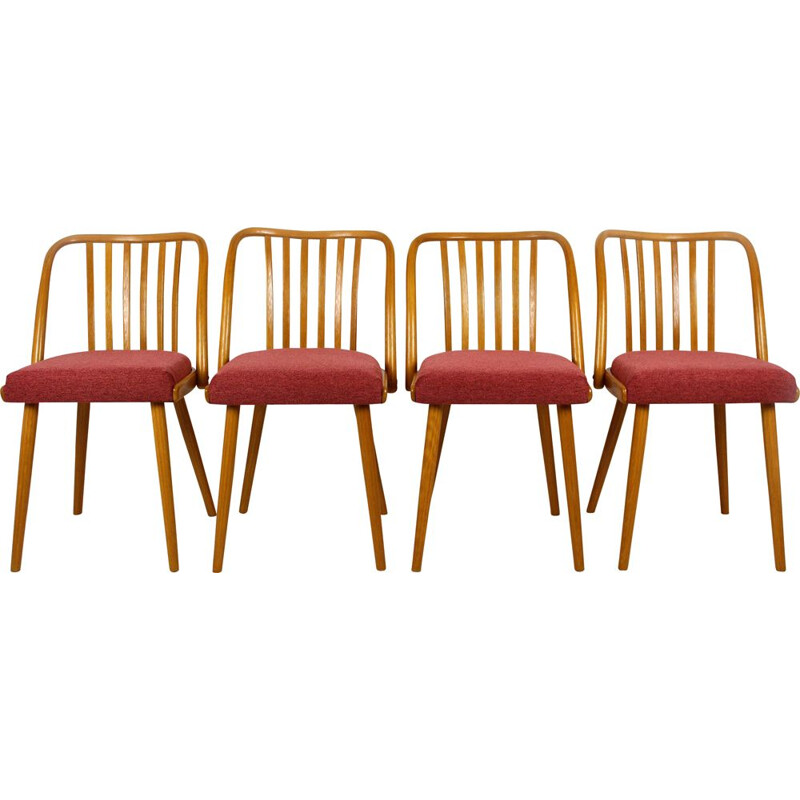 Set of 4 vintage dining chairs by Antonin Suman for Ton 1966