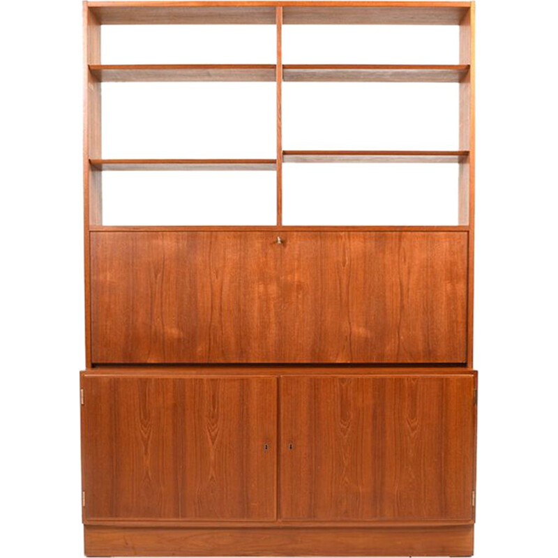 Vintage Bookshelf Secretary by Poul Hundevad 1960s Danish