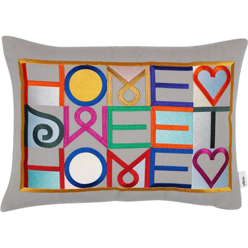 """""""Embroidered Pillow - Home Sweat Home"""" by Alexander Girard for VITRA"""