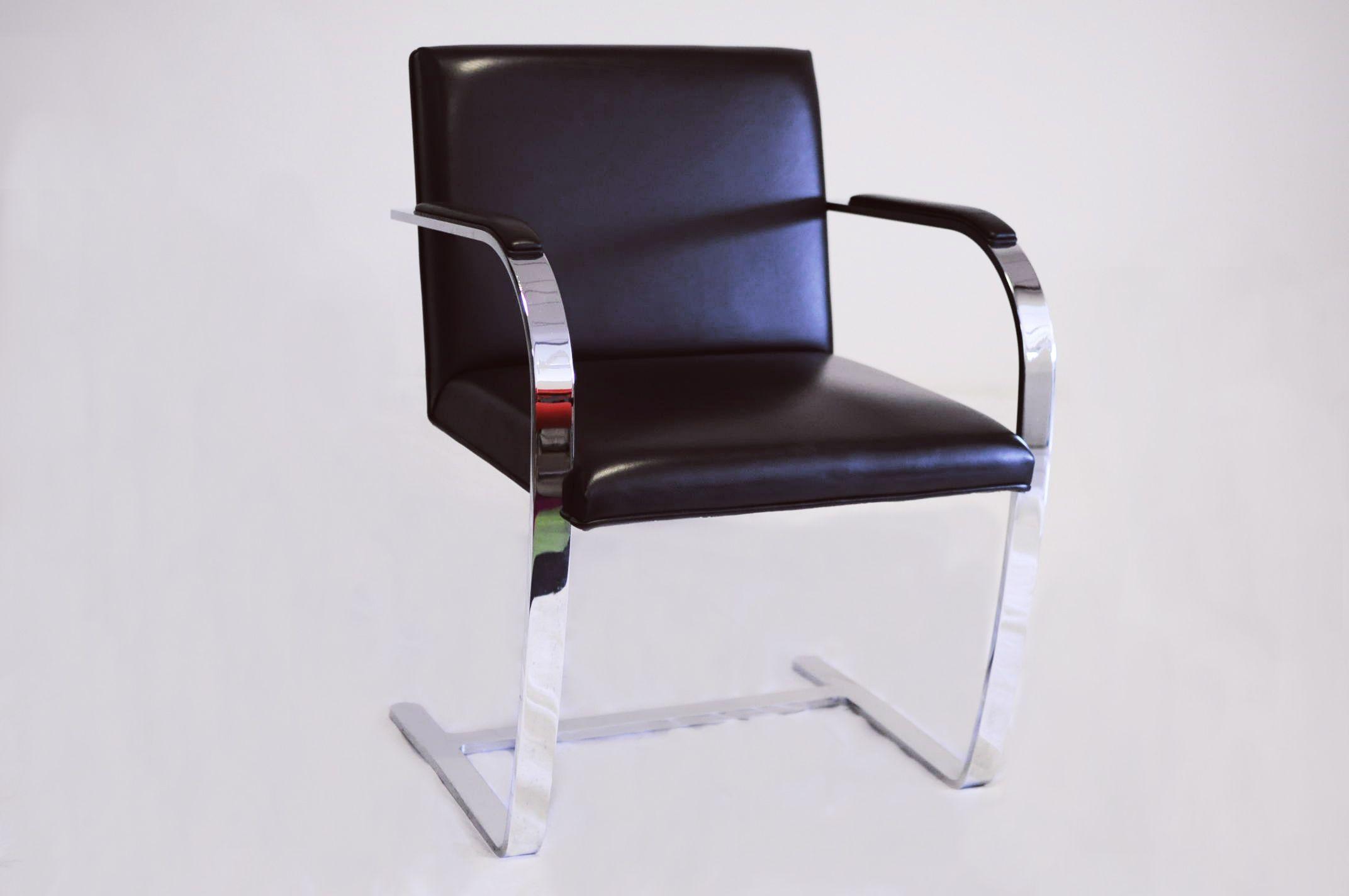 Chaise Brno Mies Van Der Rohe vintage brno armchairmies van der rohe for knoll