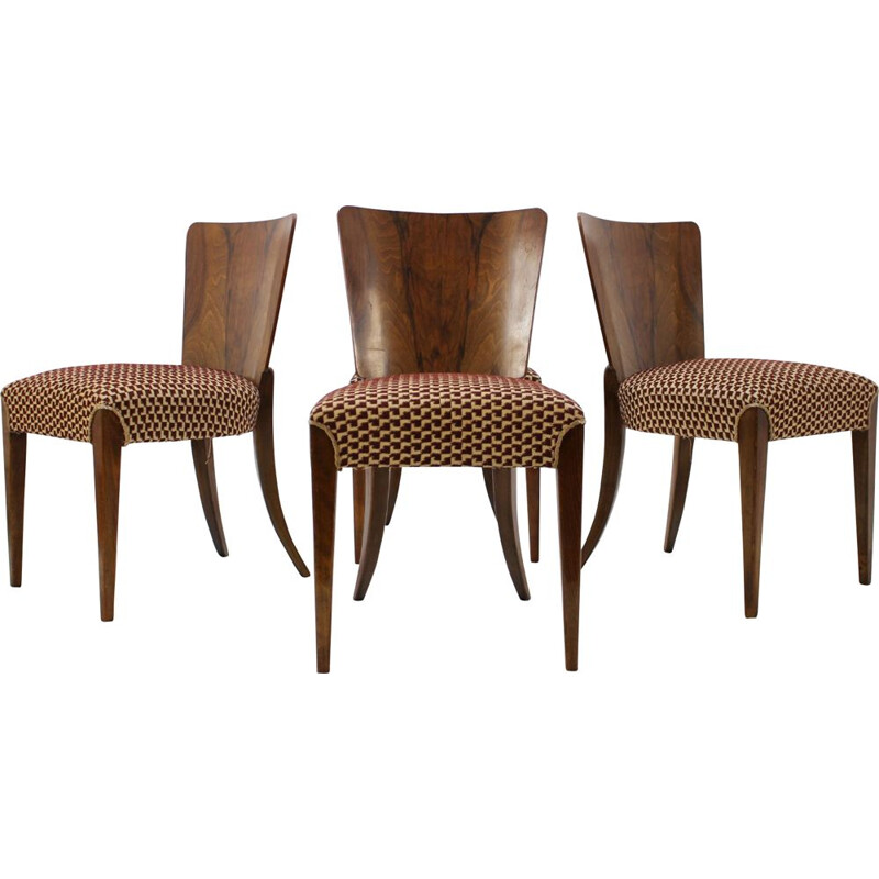 Set of 4 dining chairs by Jindrich Halabala for UP Zavody 1960